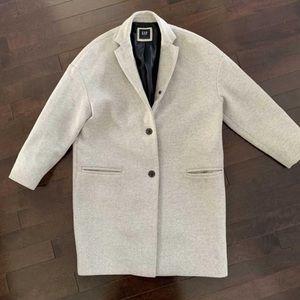 Gap grey oversize wool blend coat